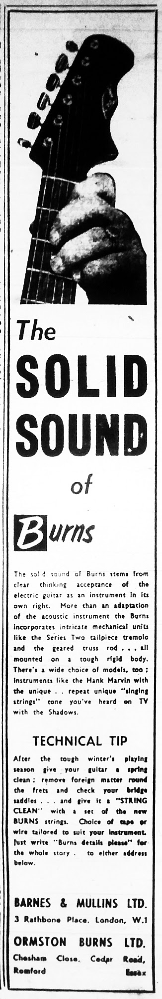 Burns Solid Sound advert