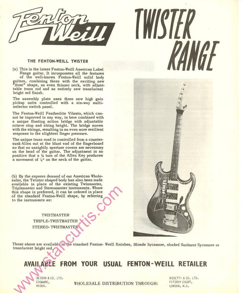 Fenton-Weill Twister Range advert July 1962
