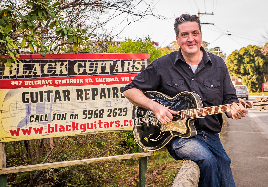 Jon Free, Proprietor: Black Guitars. Photo by Naomi Creek